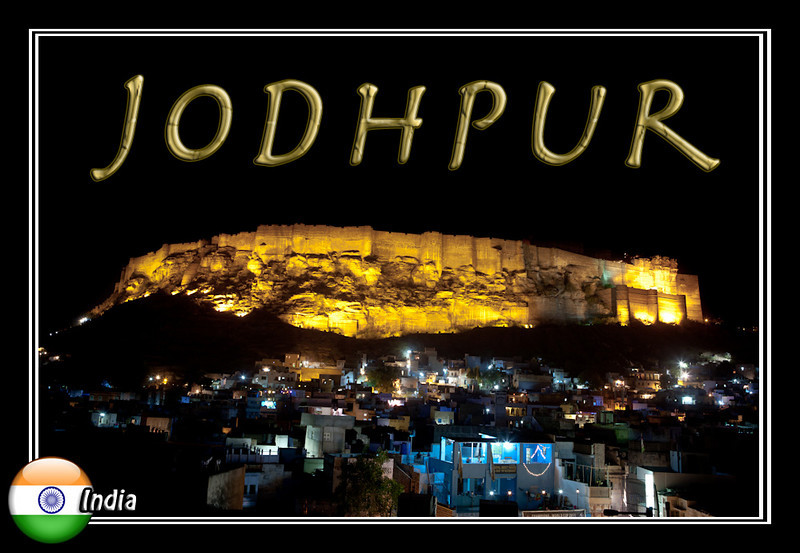 Jodhpur fort at night photograph
