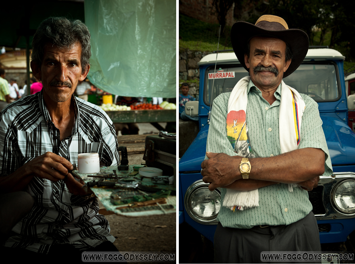 Colombia barrio people old men paisa