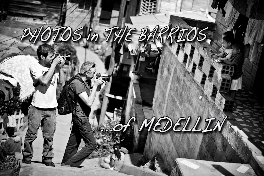 Colombia barrio people black and white