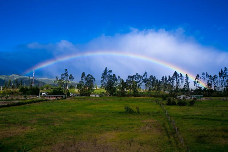 Rainbow in Quito, Ecuador, South America